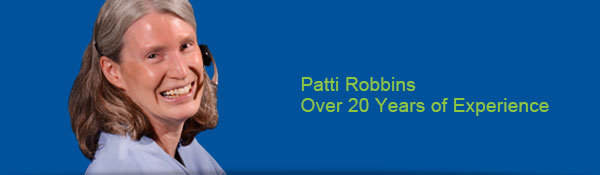 Patti Robbins - Over 20 years of experience
