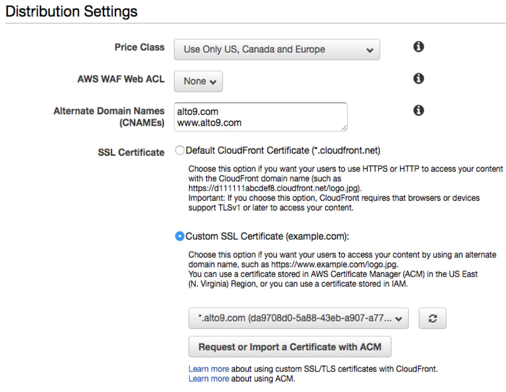 SSL with Serverless AWS Hosting