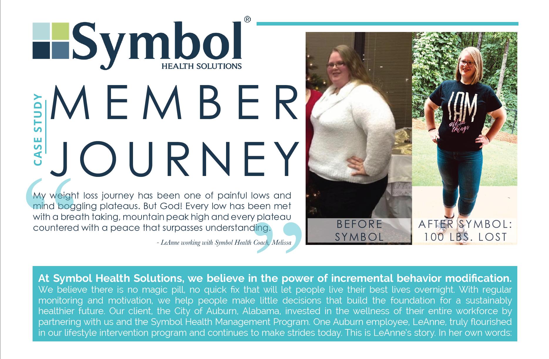 130lb Weight Loss Symbol Member Journey