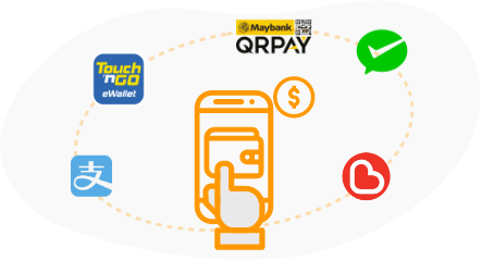 Support Various e-Wallets