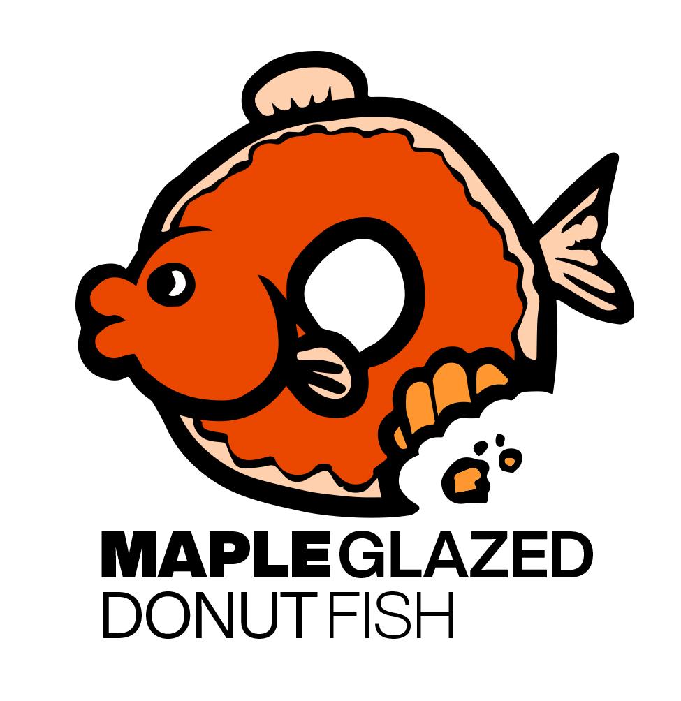 graphic design   maple glazed donut fish