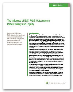 the influence of evs, fans outcomes on patient safety and loyalty