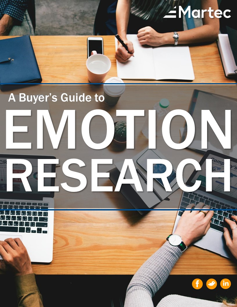Image of A Buyer's Guide to Emotion Research eBook from The Martec Group
