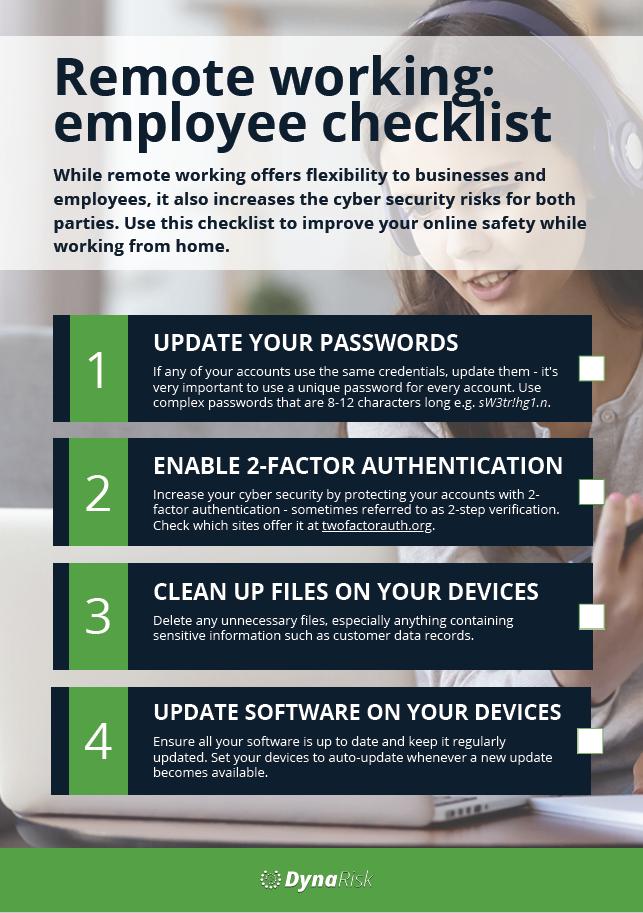 Remote working employee checklist