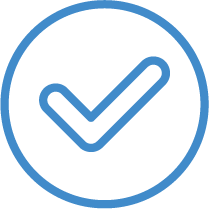 Check Marked Goals Icon in Blue