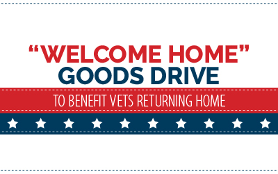 Goods Drive to benefit Vets Returning Home