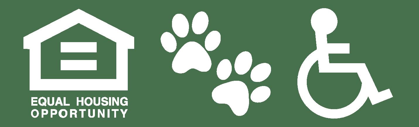 Equal Housing, Pet Friendly, Handicap Accessible