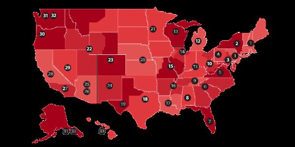 US Distributor Service Map