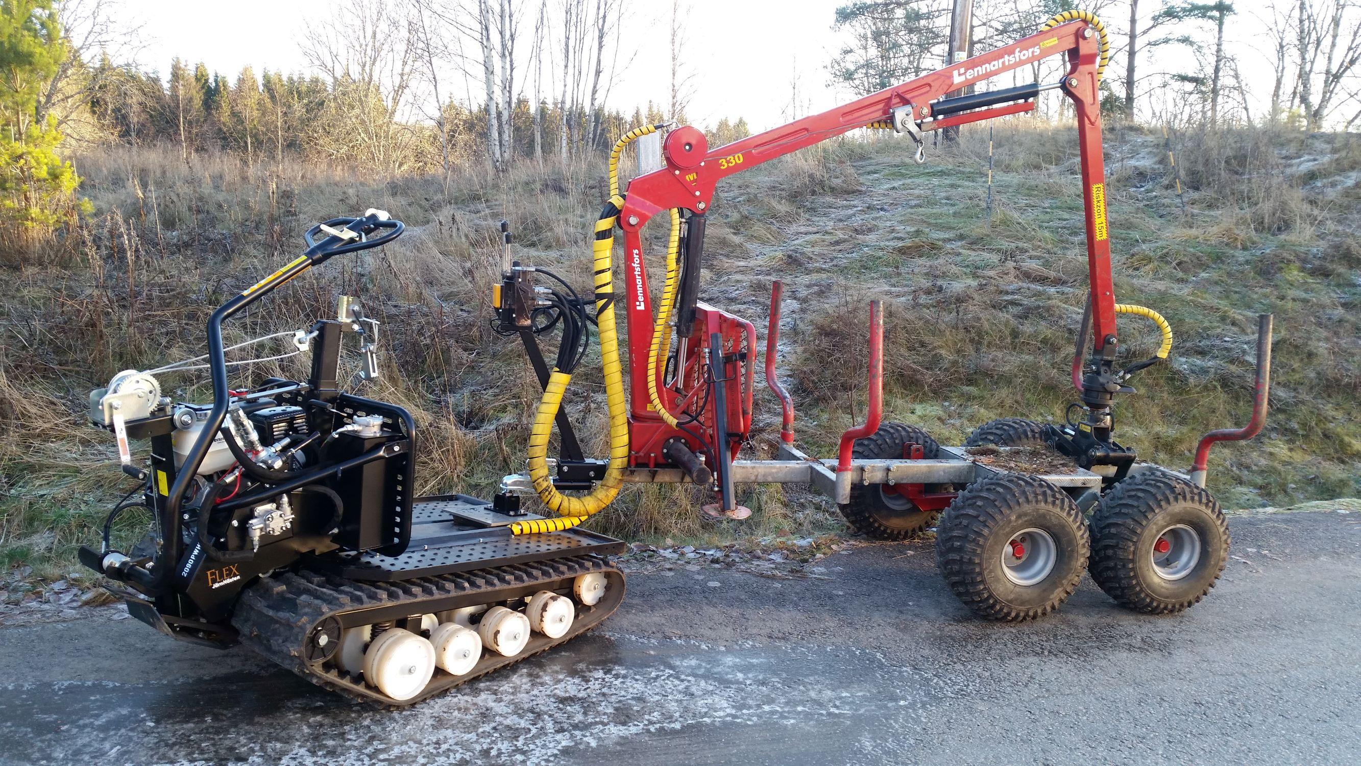 Järnhästen och Kranmans 1650 griplastarvagn