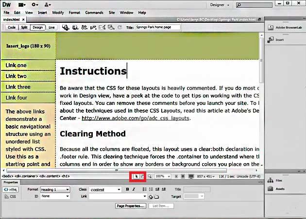 Building a Website Using Dreamweaver CS6 - Part 2 - Simon Sez IT