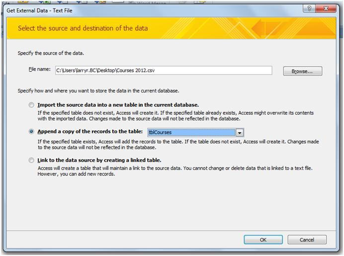 FREE Online Tutorial: Importing CSV Data into Access 2010