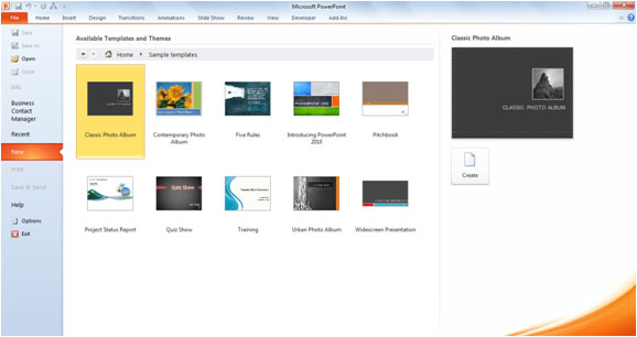 set up powerpoint template