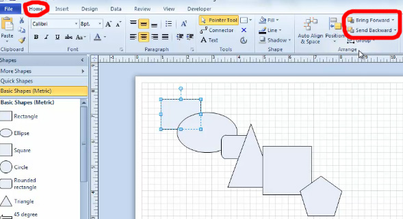 How To Do Alignment And Spacing Using Visio 2010  U2013 Part 1
