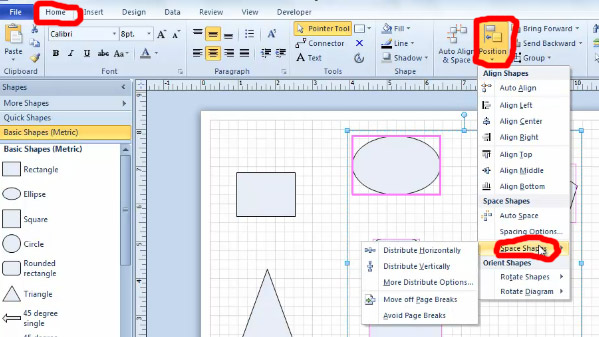 FREE Online Tutorial: Shape Alignment and Spacing in Visio