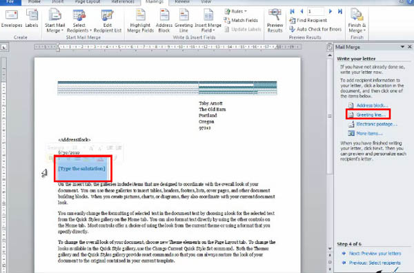 Using the mail merge wizard in word 2010 simon sez it spiritdancerdesigns Image collections
