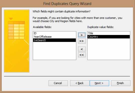 Access 2013 Find Duplicates Adding Fields