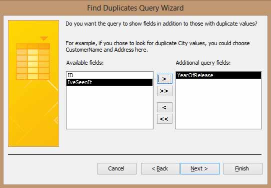 Access 2013 Find Duplicates Adding Event Fields