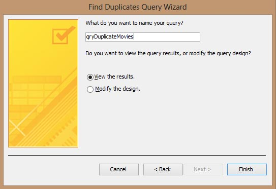 Access 2013 Find Duplicates Other Fields