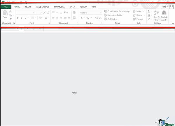Ribbon Tab Excel 2013