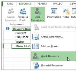 How to Share Resources in Project 2016