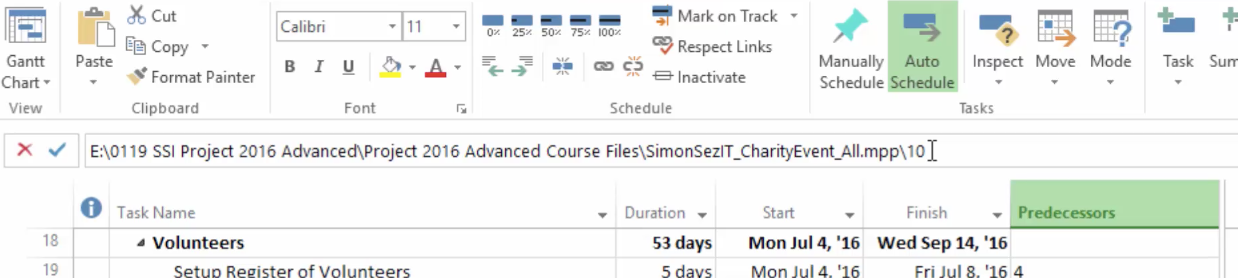 How to Combine Projects in Microsoft Project 2016 - Simon Sez IT