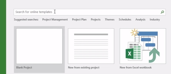 How to Navigate the Microsoft Project 2016 Workspace Templates