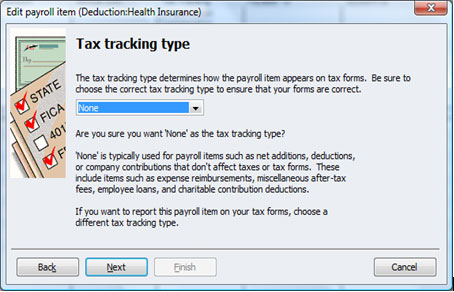 how to add health benefit deductions to quickbooks