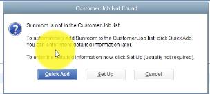 Quick Add Customer to Customer Job