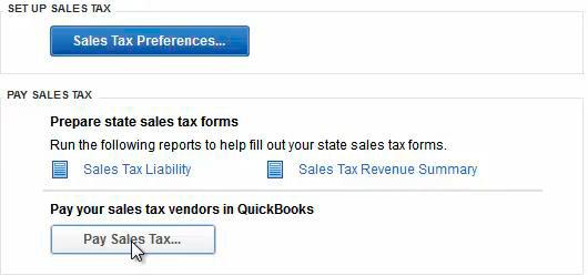 Sales Tax Preferences