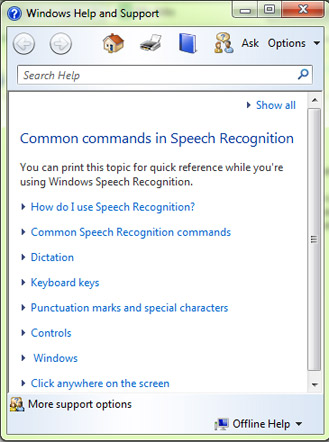 START LEARNING Using Speech Recognition in Windows 8