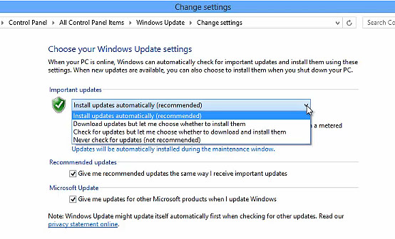 FREE Online Tutorial: Configuring Windows Update in Windows 8