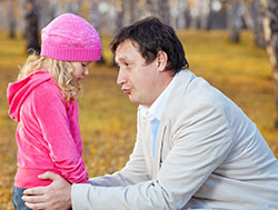 father spending time with daughter