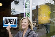 San Diego Business Attorney turning open-closed sign