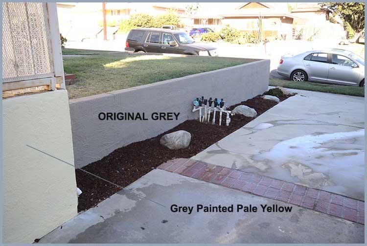 grey yellow wall