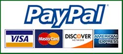 We accept cash, checks, all major credit cards, and PayPal
