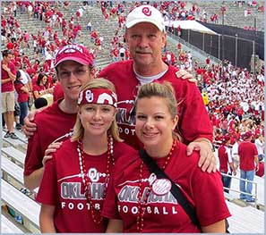 Matt, Mallory, Melanie & Gene at Sooners Cotton Bowl Game