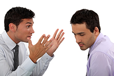 Two business men verbally fighting over real estate deal gone bad
