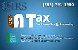 Los Angeles Tax Preparers - Business Card Front