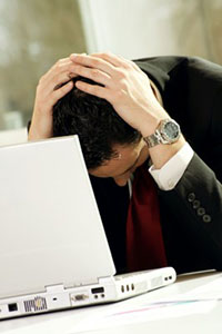 Divorce is Stressful - Image of stressed out man
