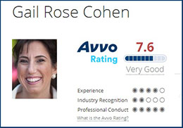 Click to Visit Gail Cohen's AVVO Provile