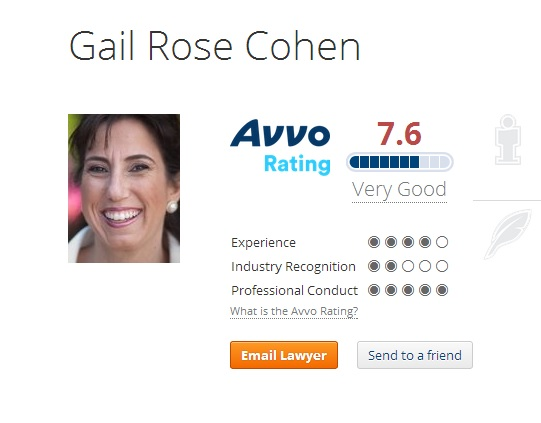 Gail Rose Cohen's AVVO Profile