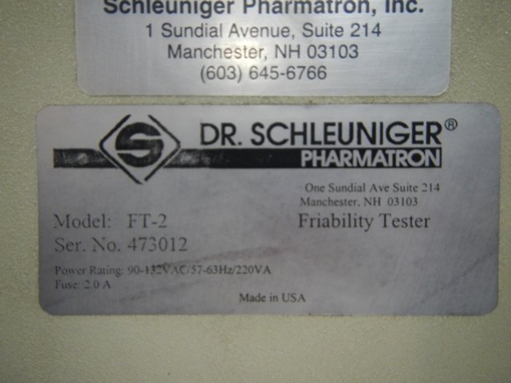 Dr. Schleuniger FT-2 Friability Tester