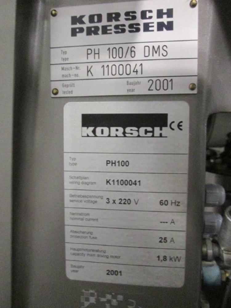 Korsch PH 100/6 6 Station Tablet Press