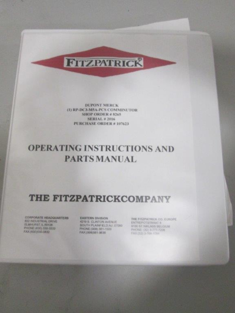 Fitzpatrick M5A Fitz-Mill Comminutor
