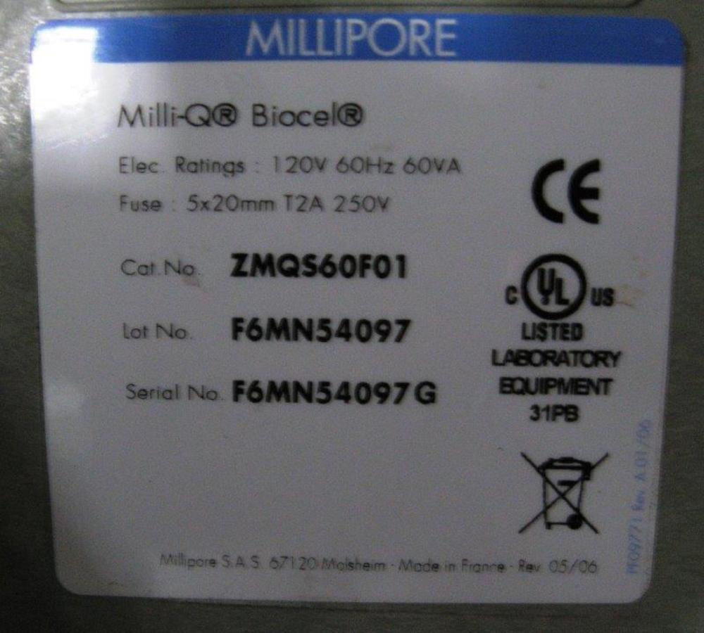 Millipore Milli-Q Biocel