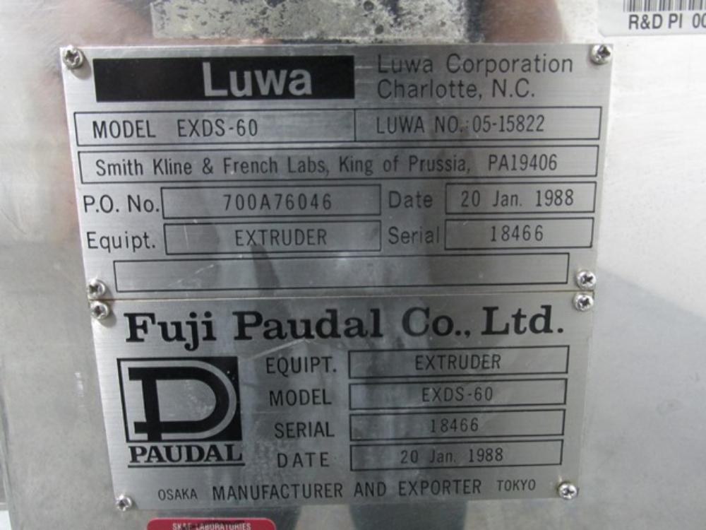 Fuji Paudal EXDS-60 Luwa Extruder