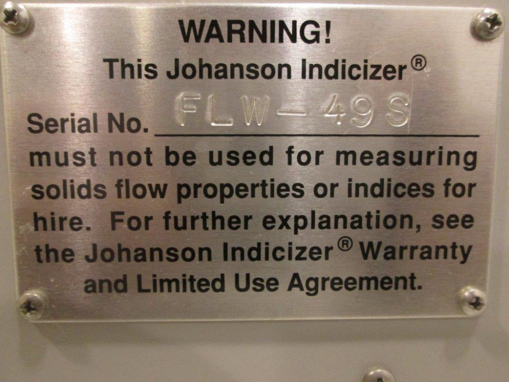 Johanson Flow Rate indicizer System