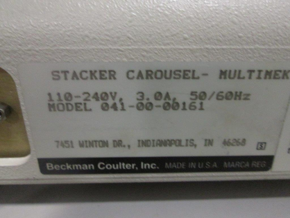 Beckman Coulter Multimek Stacker Carousel