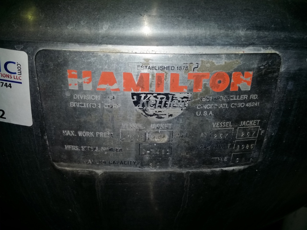 Hamilton 30 Gallon Kettle