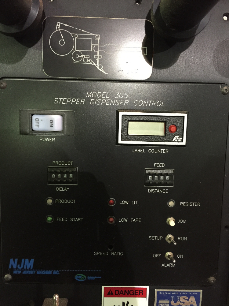 NJM Stepper Label Dispenser
